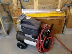 Air compressor used for sprinkler winterization in Toronto